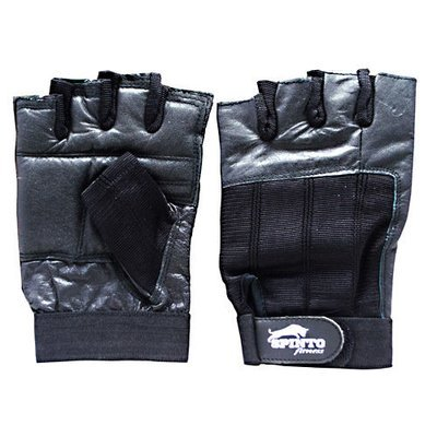 SPINTO USA MEN'S BLACK WORKOUT GLOVES - Extra Large
