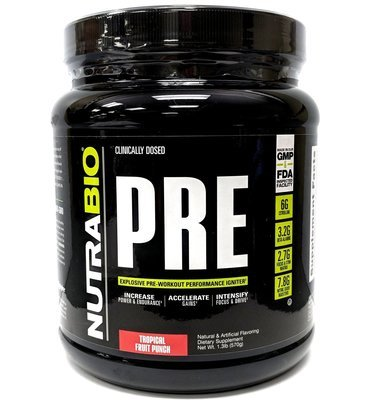 Nutrabio Pre Workout - Tropical Fruit Punch