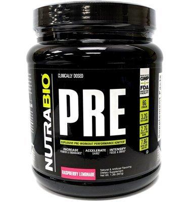 Nutrabio Pre Workout - Raspberry Lemonade