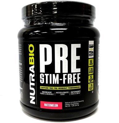 Nutrabio Stim-Free Pre Workout - Watermelon