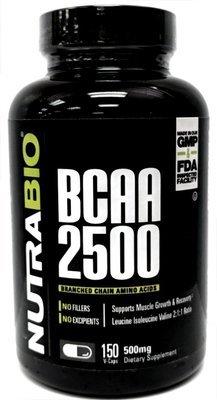 Nutrabio BCAA 2500 - 150 Vegetable Caps