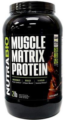 Nutrabio Muscle Matrix Protein 2Lb - Dutch Chocolate