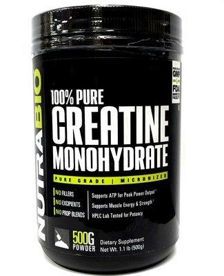 Nutrabio Creatine Monohydrate - 500 Grams