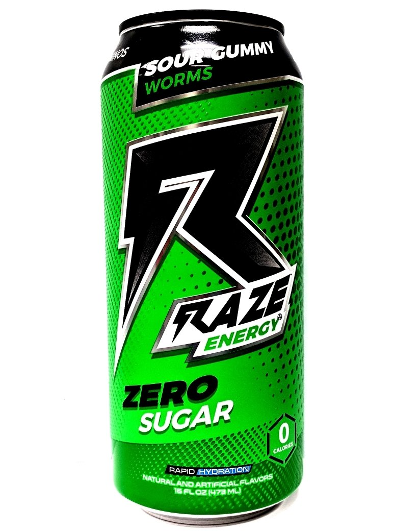 Raze Energy Drink - Sour Gummy Worms