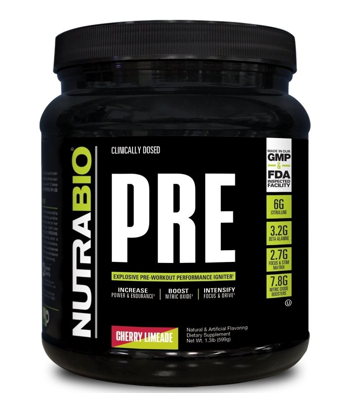 Nutrabio Pre Workout - Cherry Limeade