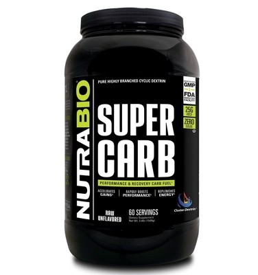Nutrabio Super Carb 60 Servings - Unflavored