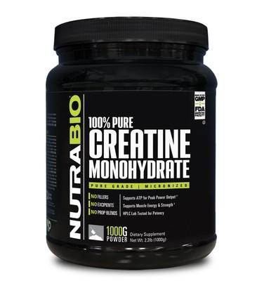 Nutrabio Creatine Monohydrate - 1000 Grams