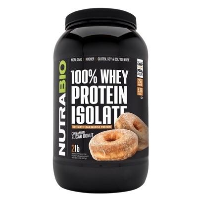 Nutrabio Whey Protein Isolate - Cinnamon Sugar Donut