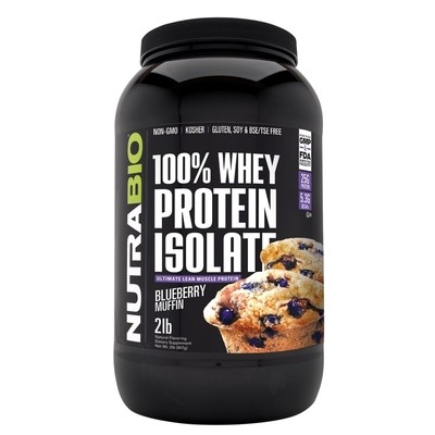 Nutrabio Whey Protein Isolate - Blueberry Muffin