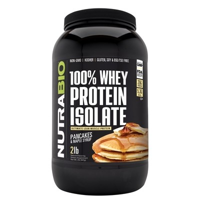 Nutrabio Whey Protein Isolate - Pancakes and Maple Syrup