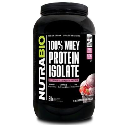 Nutrabio Whey Protein Isolate - Strawberry Ice Cream