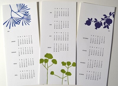 2021 Letterpress Printed Calendar
