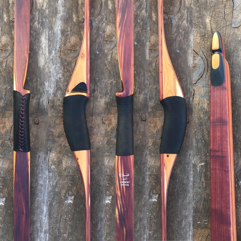 """Benoit 62"""" Forward Handle Longbow        Cedar/ Yew"""