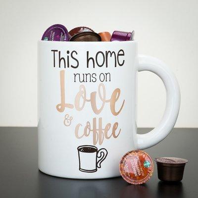Giant Mug - This Home Runs On Love & Coffee
