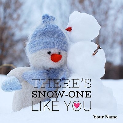 Personalized Canvas Art - There's Snow-One like You