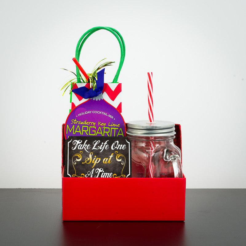 Gift Box - Holiday Cocktail Mix w/Mason Jar Mug