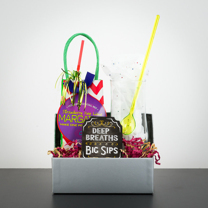 Gift Box - Holiday Cocktail Mix w/Glass