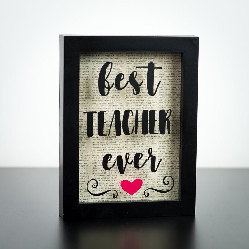 """Shadow Box - Best Teacher Ever (5"""" x 7"""")"""