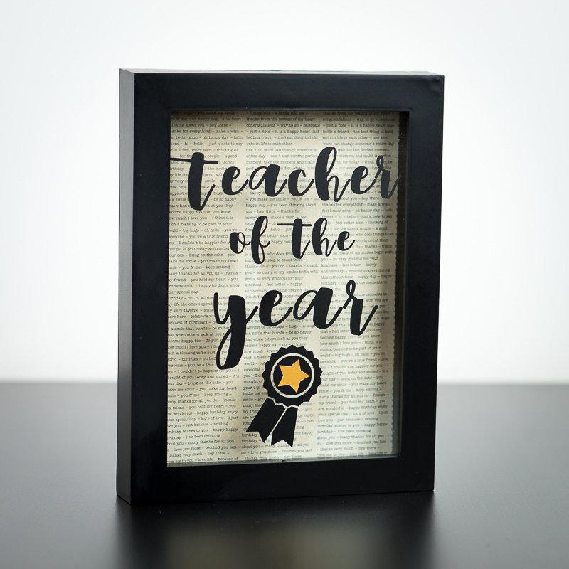 "Shadow Box - Teacher of the year (5"" x 7"")"