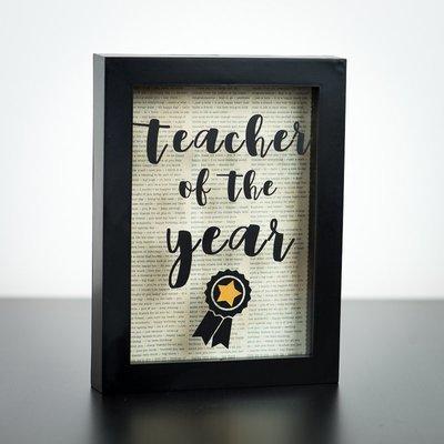 Shadow Box - Teacher of the year (5