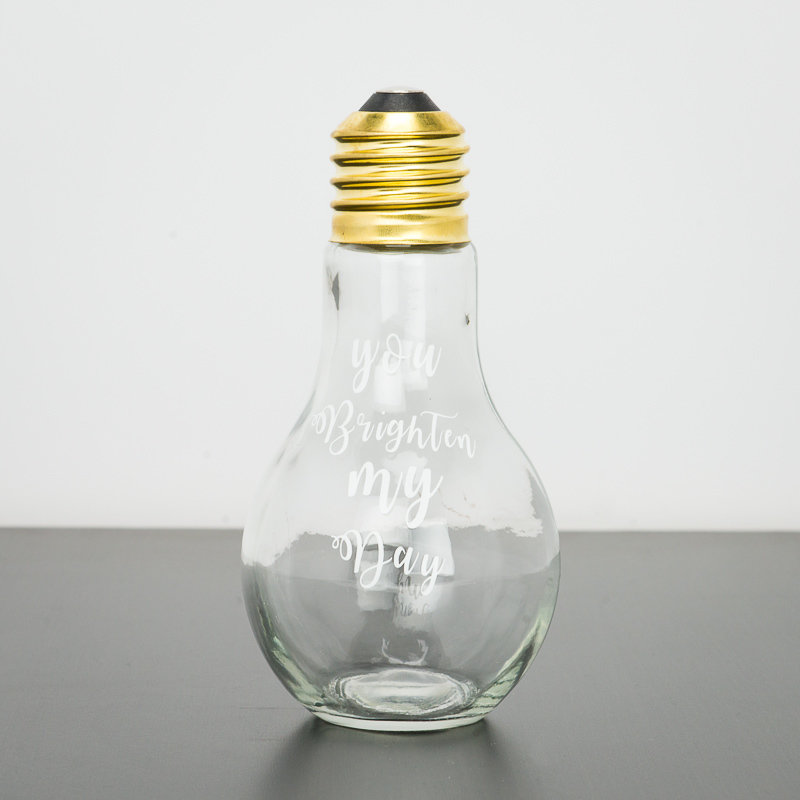 Other Gifts - Glass Fillable Light Bulb Container