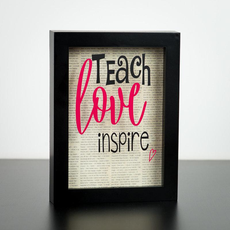 """Shadow Box - Teach Love Inspire (5"""" x 7"""")"""