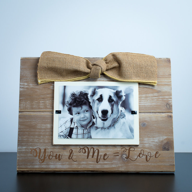 Picture Frame - You & Me = Love