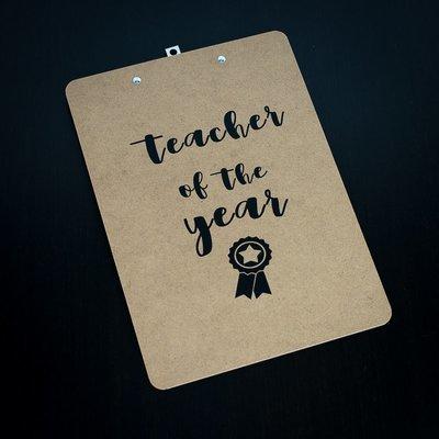 Clipboard - Teacher of the year