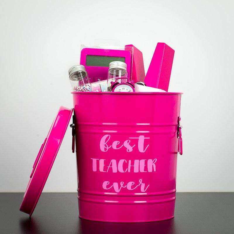 Tin Can - Best Teacher Ever (Pink)
