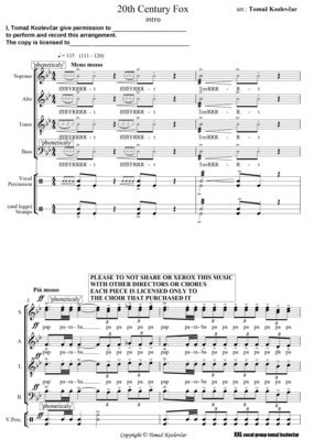 20th Century Fox SSATTB score rendition of a legendary moovie intro.