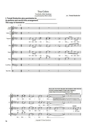True Colors, famous SSAATTBB score (as YouTube phenomena)