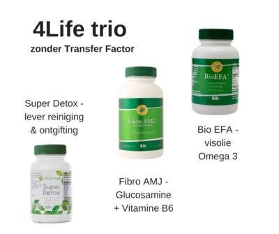 4Life - zonder Transfer Factor - PROMO Pack - Super Detox + Fibro AMJ ( glucosamine ) + Bio EFA ( visolie )