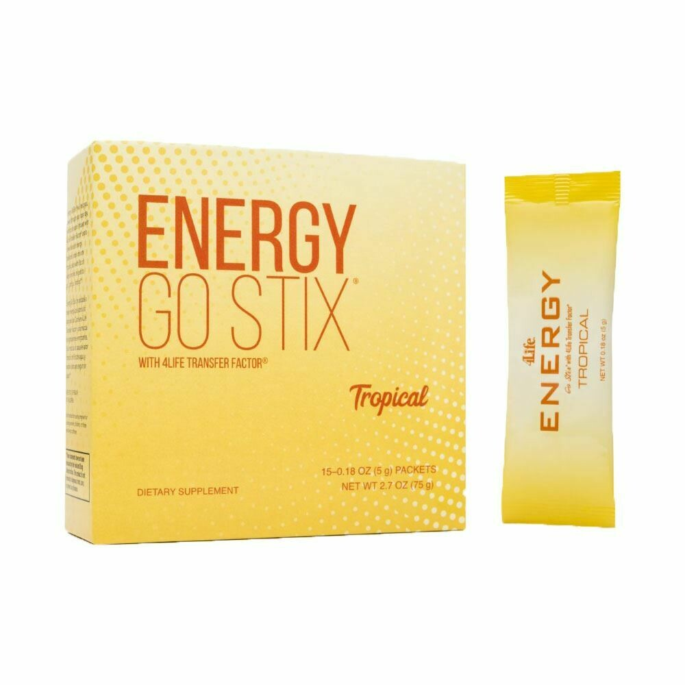 4Life Energy Go Stix met Transfer Factor - Tropical - energie drank