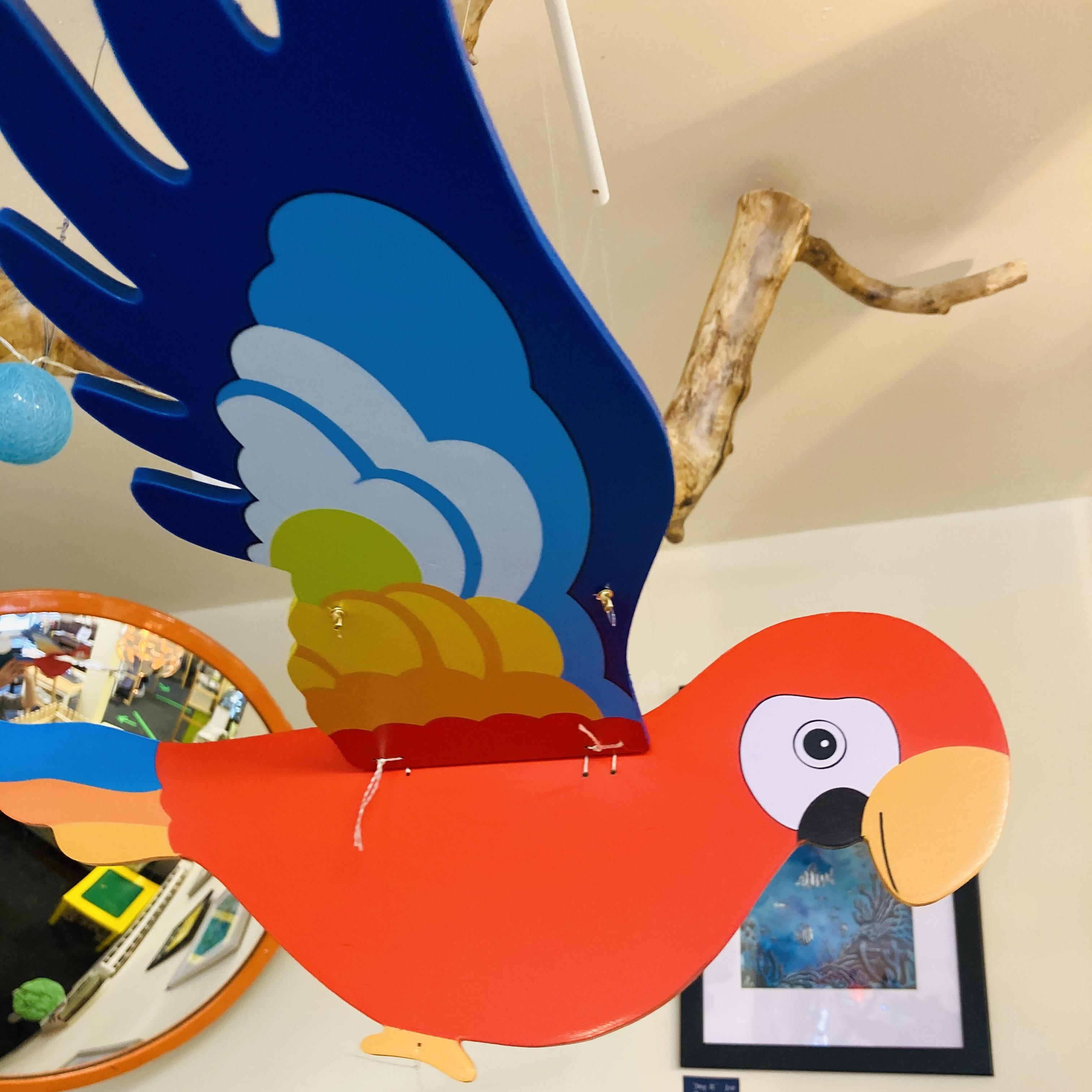 Flying parrot mobile Parrotmobile
