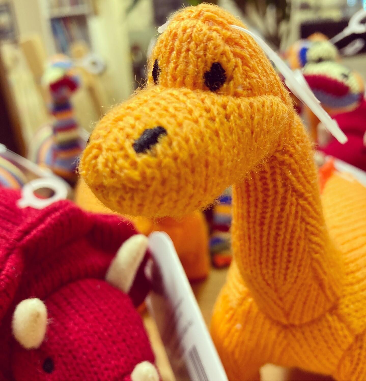 Knitted Dinosaur / Animal Rattles