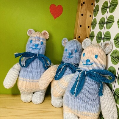 Handmade 'Hygge' Knitted Teddies - Marl