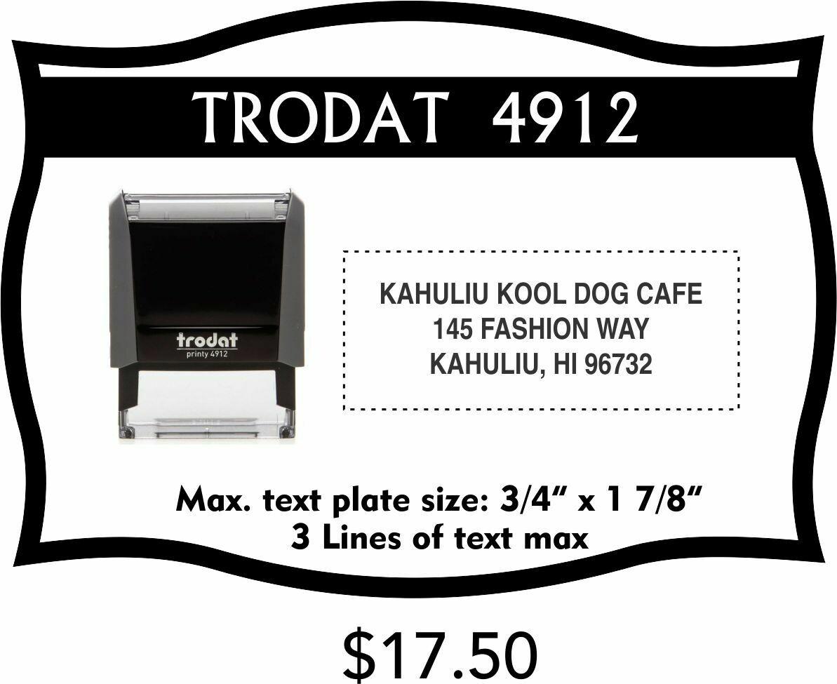 TRODAT 4912 SELF-INKING STAMP