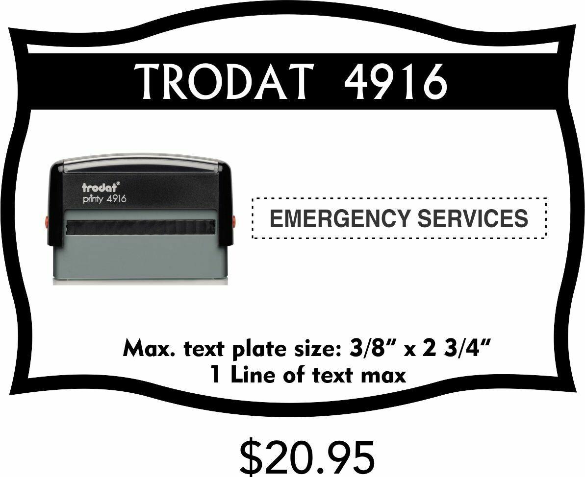 TRODAT 4916 SELF-INKING STAMP
