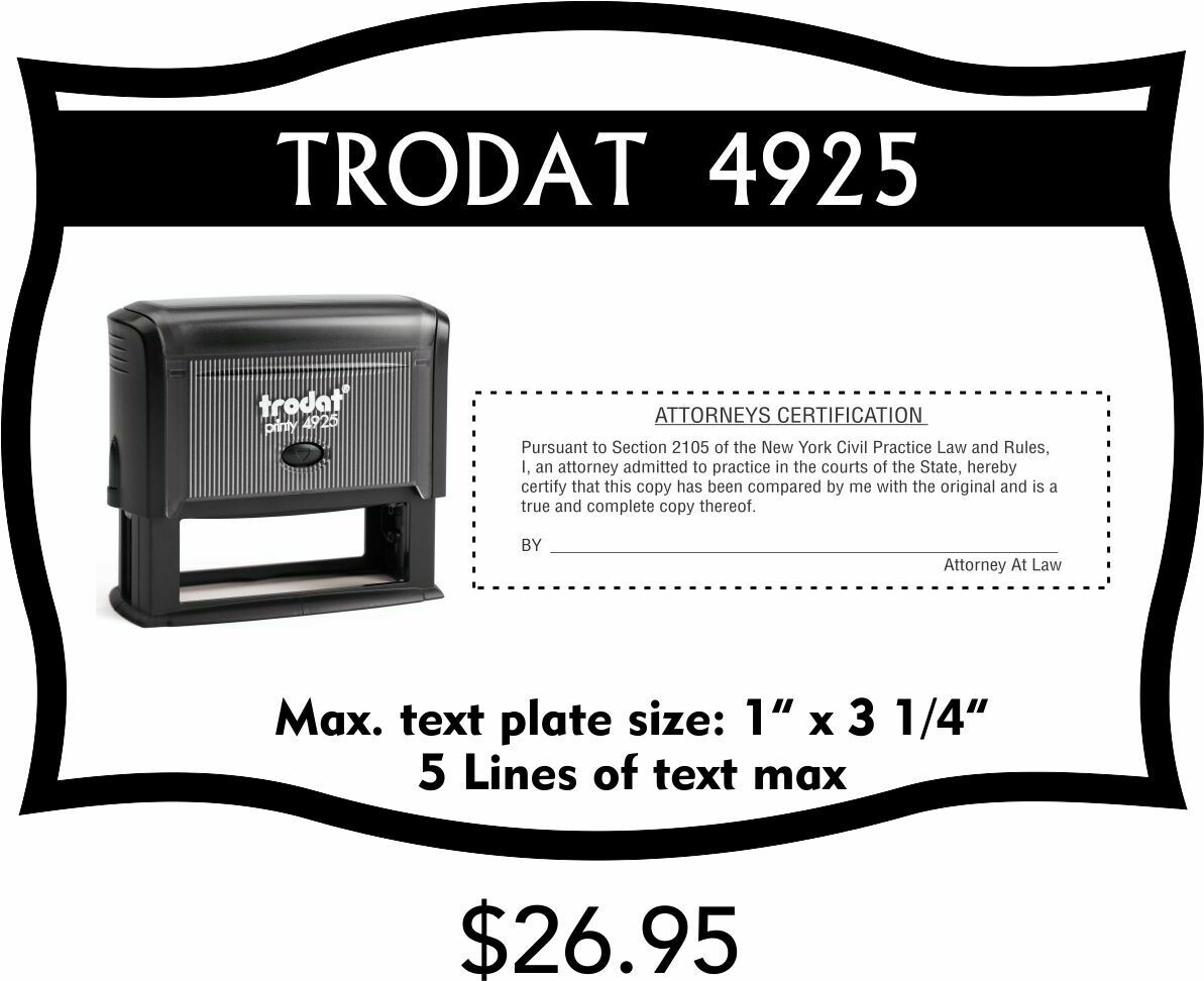 TRODAT 4925 SELF-INKING STAMP