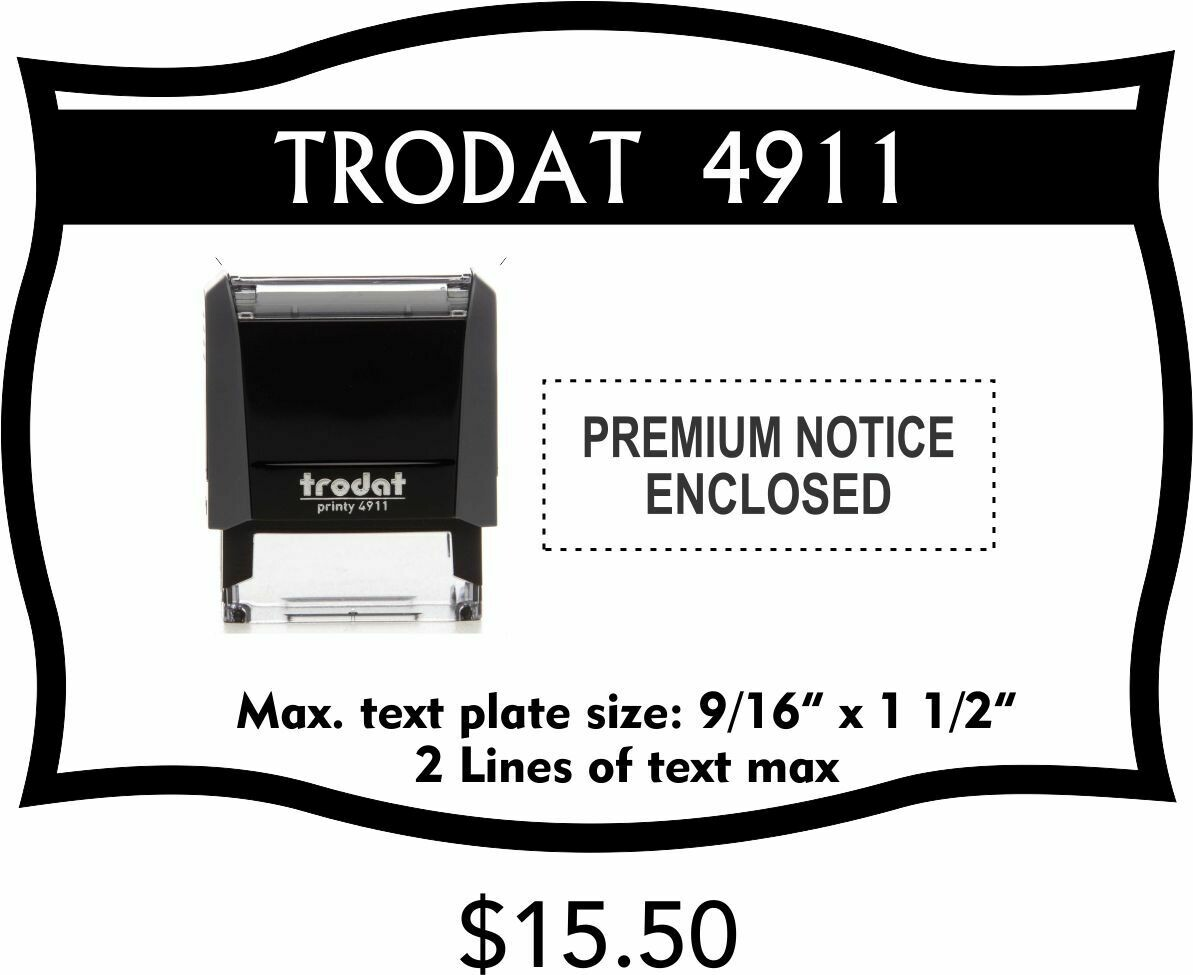 TRODAT 4911 SELF-INKING STAMP