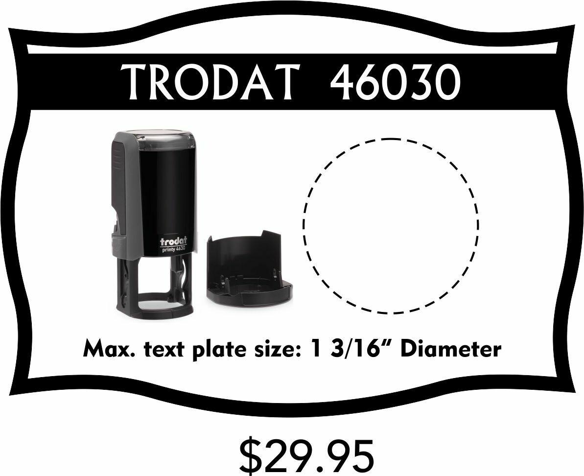 TRODAT 46030 SELF-INKING STAMP