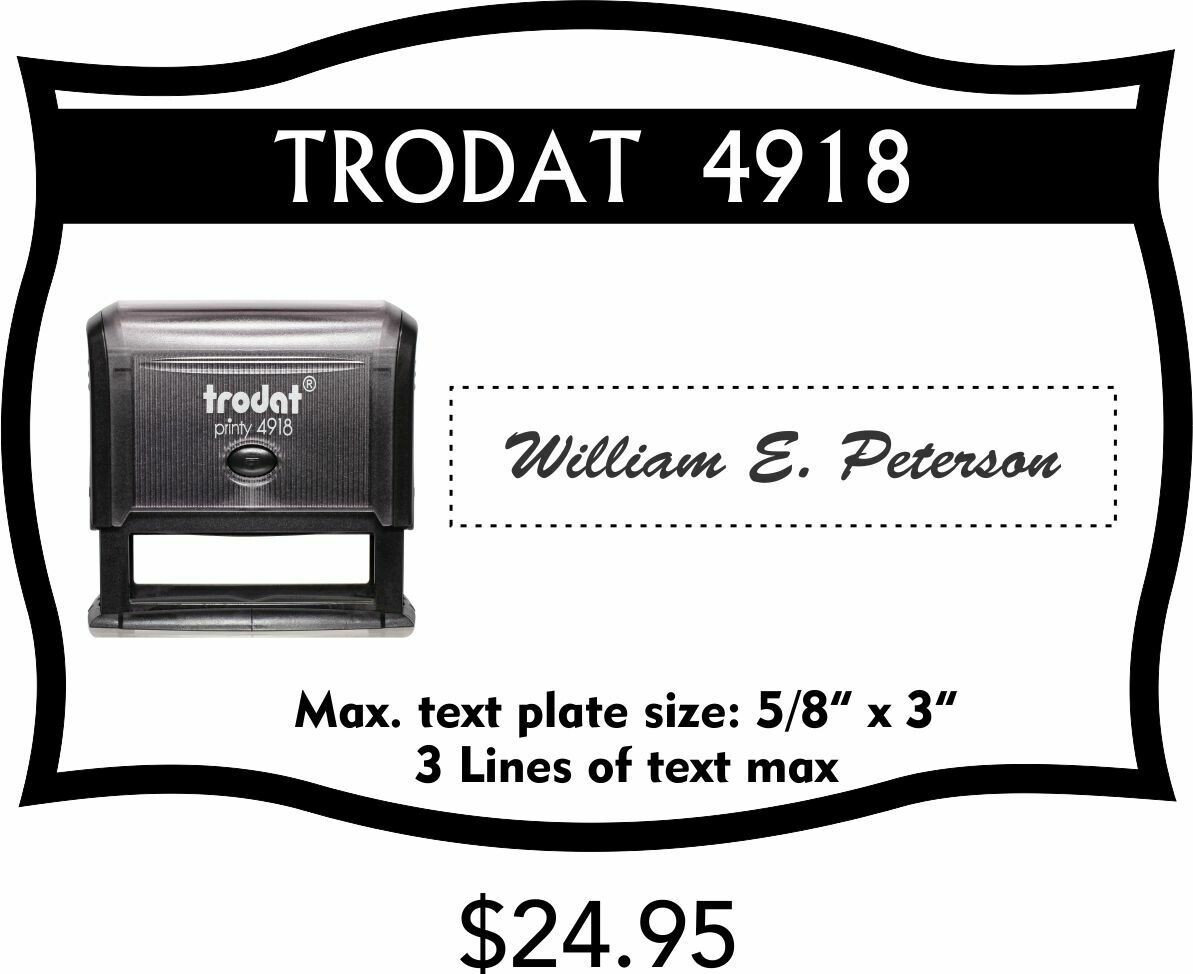 TRODAT 4918 SELF-INKING STAMP