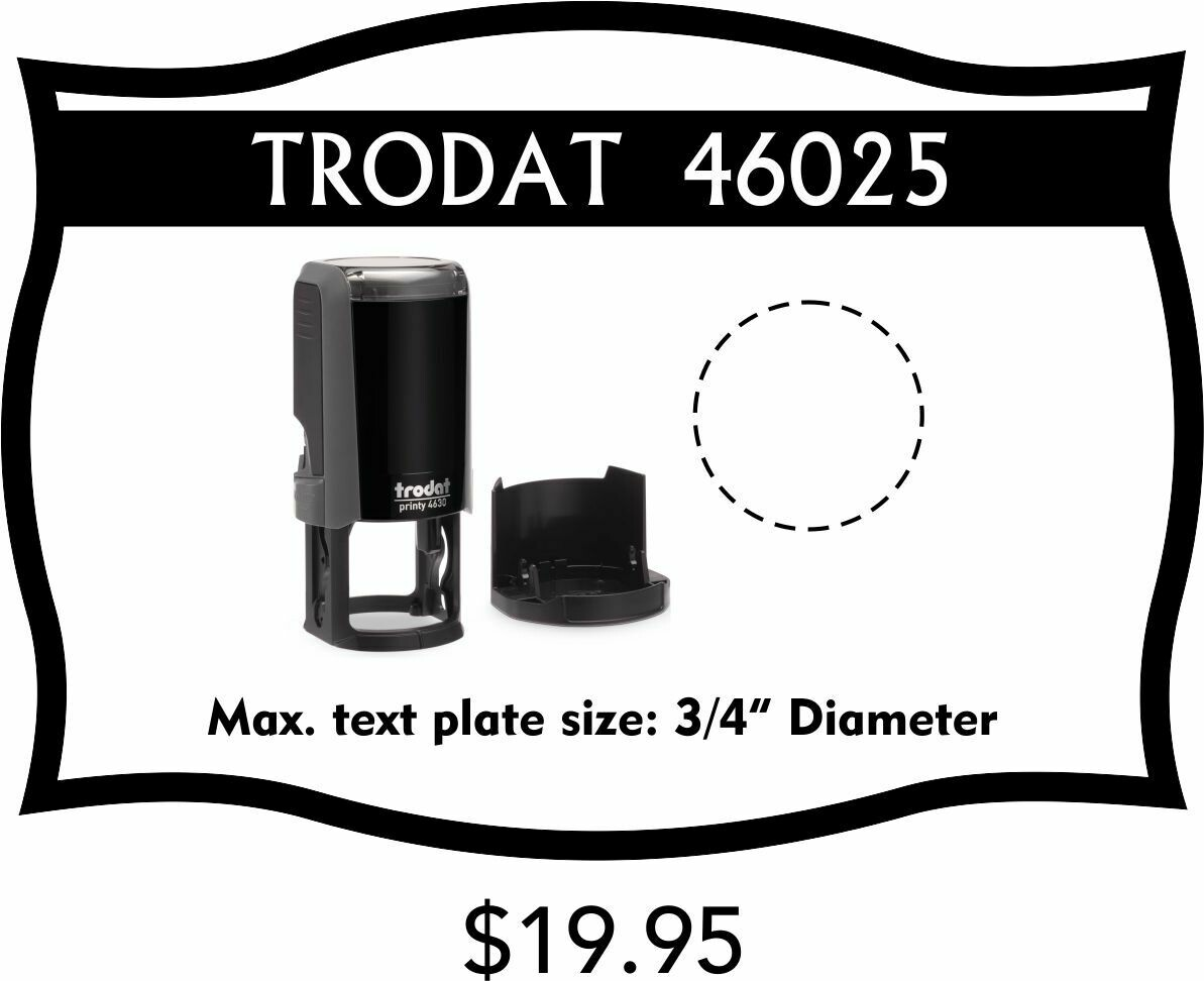 TRODAT 46025 SELF-INKING STAMP