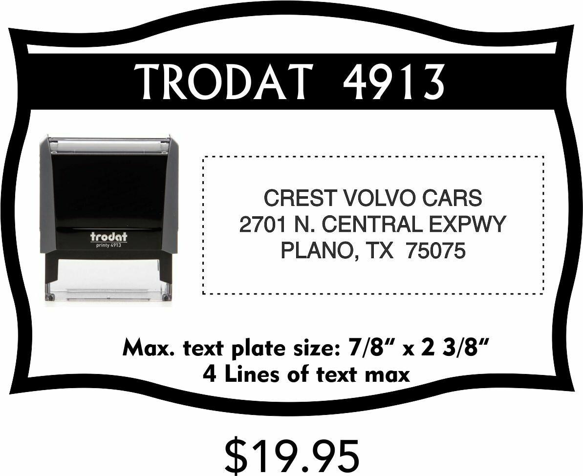TRODAT 4913 SELF-INKING STAMP