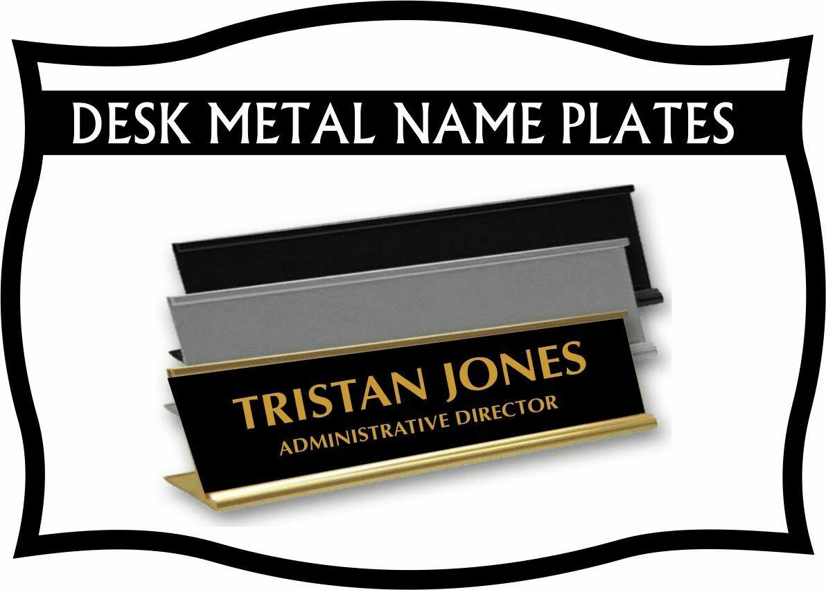 METAL DESK NAME PLATE