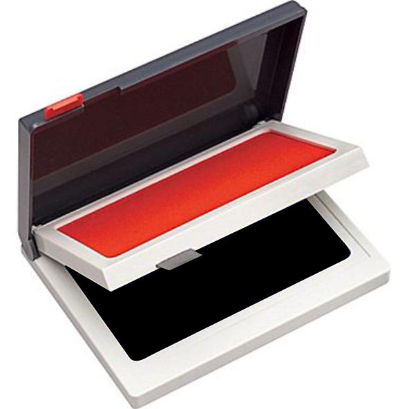 RED / BLACK 2- COLOR INK PAD