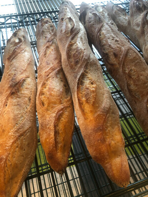 SOURDOUGH BAGUETTES----Saturday Farmer Markets Only