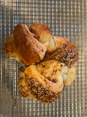 HAM AND CHEESE CROISSANTS----Saturday Farmer's Markets Only