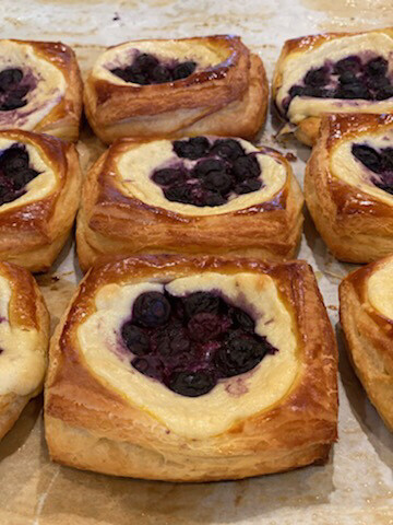 BLUEBERRY DANISH----Saturdays BBFM Only
