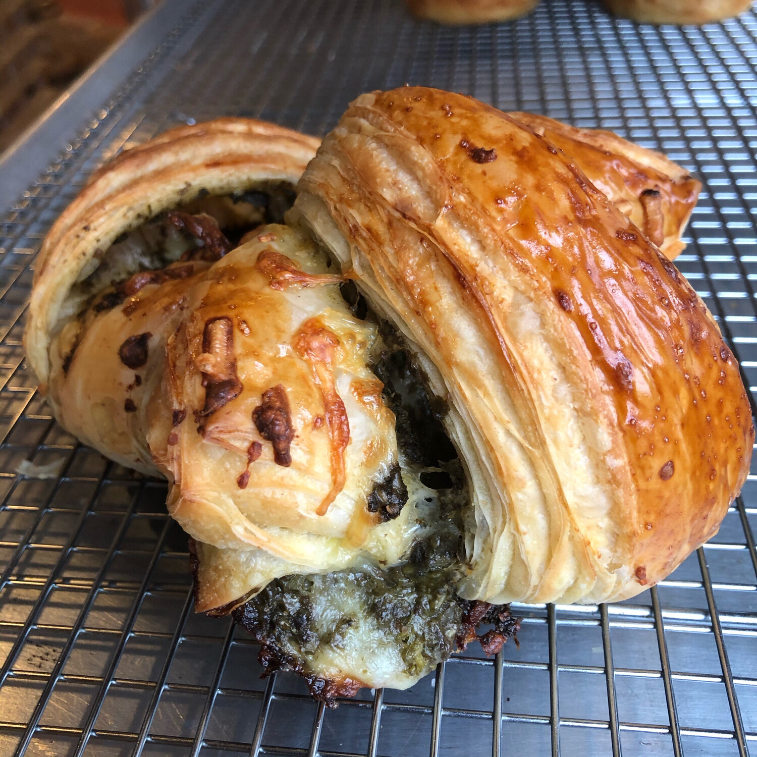 Pesto And Cheese Croissant-Saturday Only